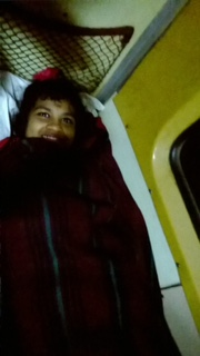 shuktara - Prity on her way to Puri, India, on the train
