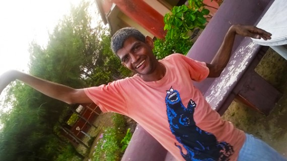 shuktara - Sunil very happy in Puri, India