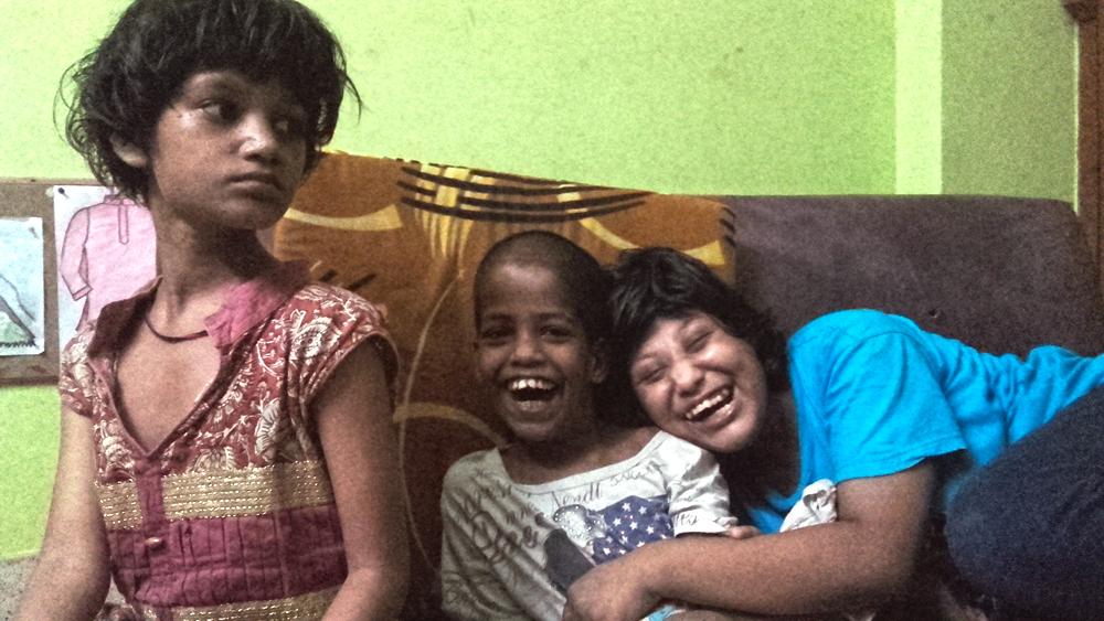 shuktara May 2016 - Puja, Guria and Muniya in AC study room