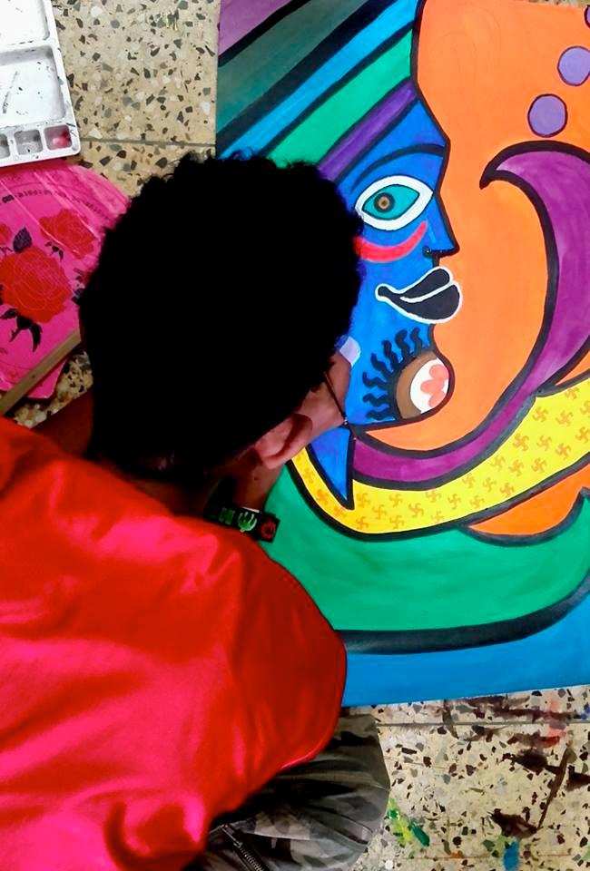 shuktara May 2016 - Raja painting