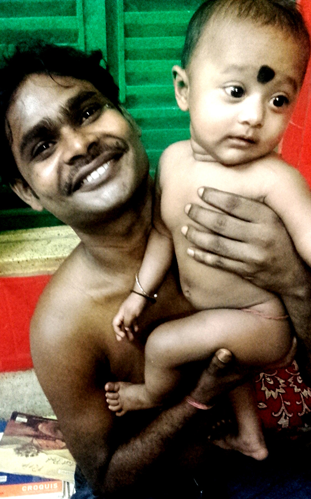 shuktara May 2016 - Sanjay holding his daughter Sumi