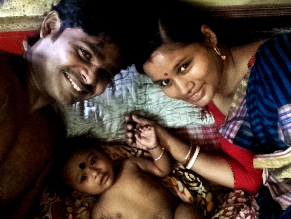 shuktara 2016 - Sanjay, his wife Muniya and their daughter Sumi