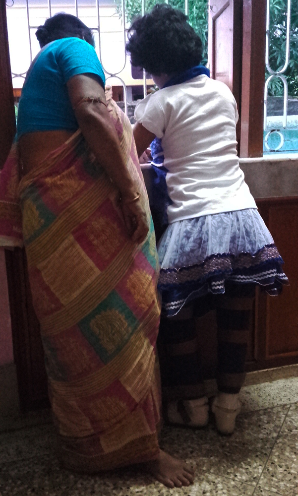 shuktara home for disabled girls - 2016 July - Prity standing with Maashi