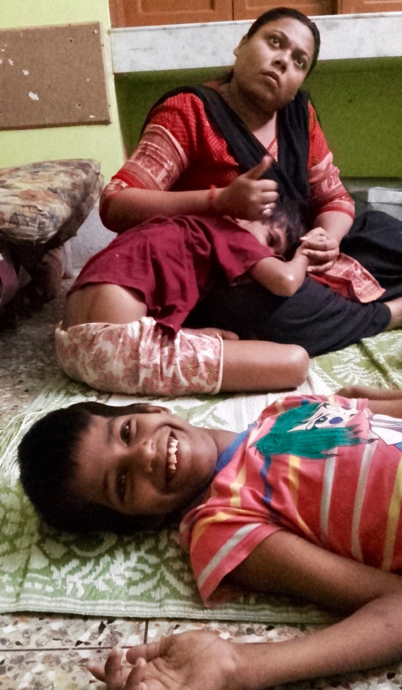 shuktara home for disabled girls - 2016 July - Guria waiting for tuitions with Priyanka