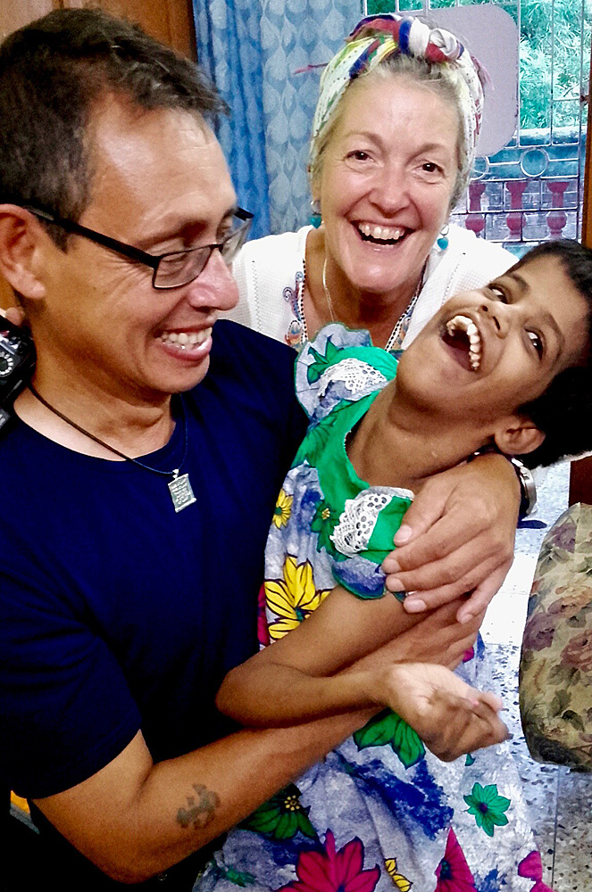 shuktara home for girls with disability - 2016 September - Steven, Tracy and Guria at Lula Bari