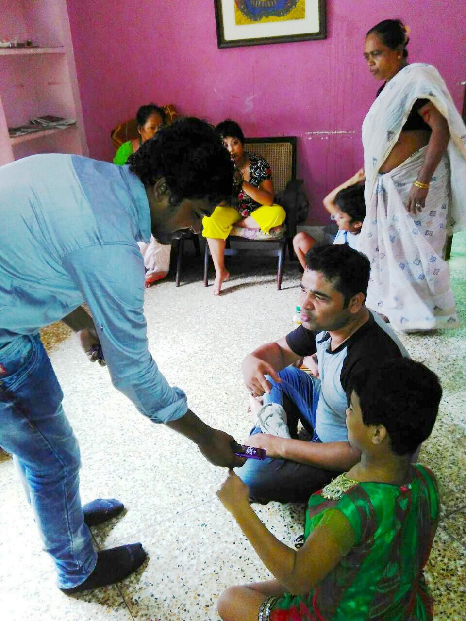 shuktara home for young adults with disability - Sanjib at Lula Bari with Pappu