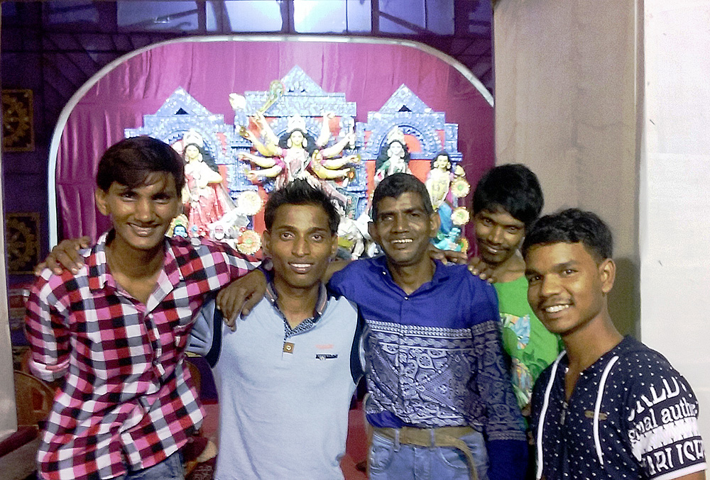 shuktara home for young adults with disability - 2016 Durga Puja - Pinku, Vijay, Sunil, Ramesh and Rajesh