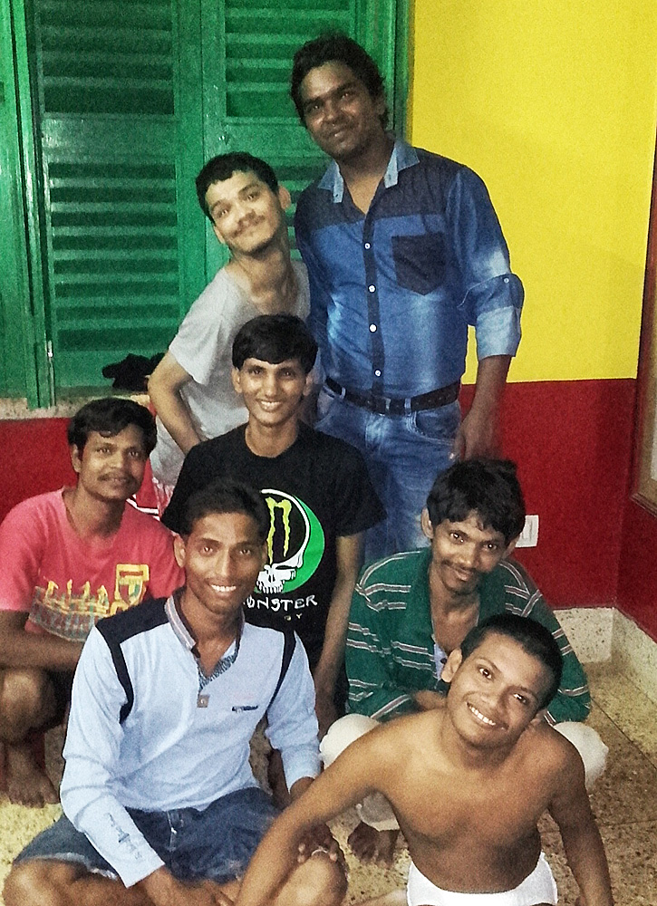 shuktara home for young people with disabilities - 2016 October - Sanjib gives Puja gifts