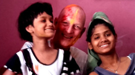 shuktara - Puja, David and Ipshita - Holi 2016