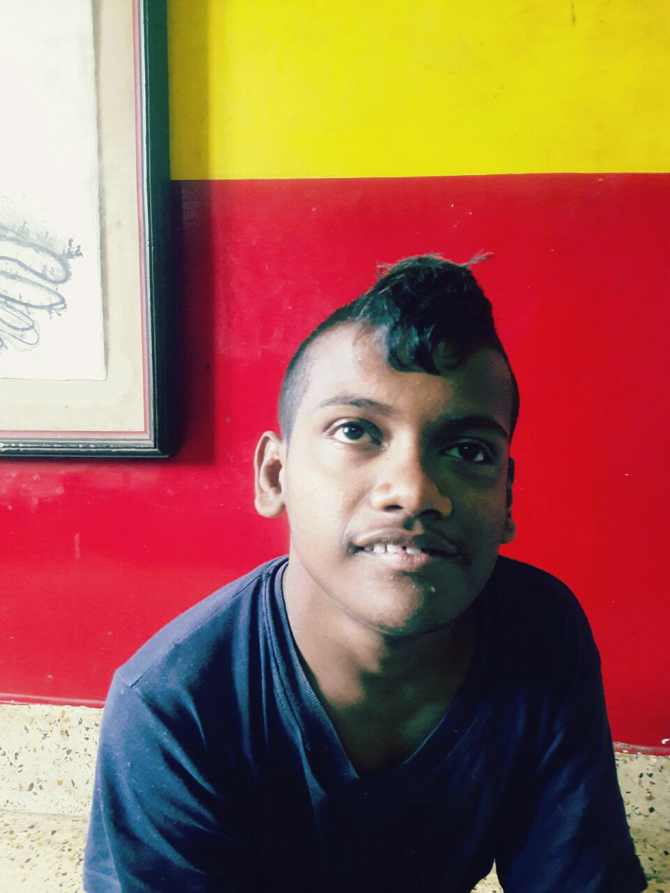 shuktara home for young people with disabilities - 2017 January - Subhash at home
