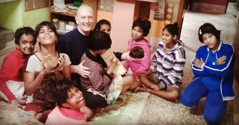 shuktara home for disabled girls - 2017 January - David celebrates his birthday with the girls