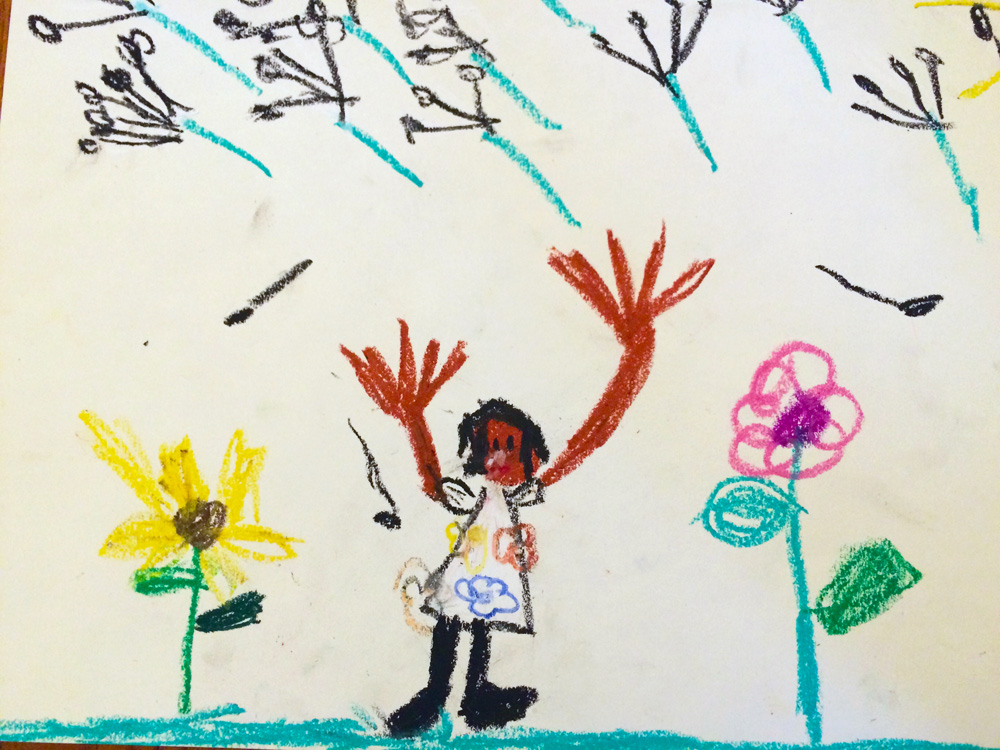 shuktara home for disabled girls - Drawing of Guria by Mary Cooper, age 6