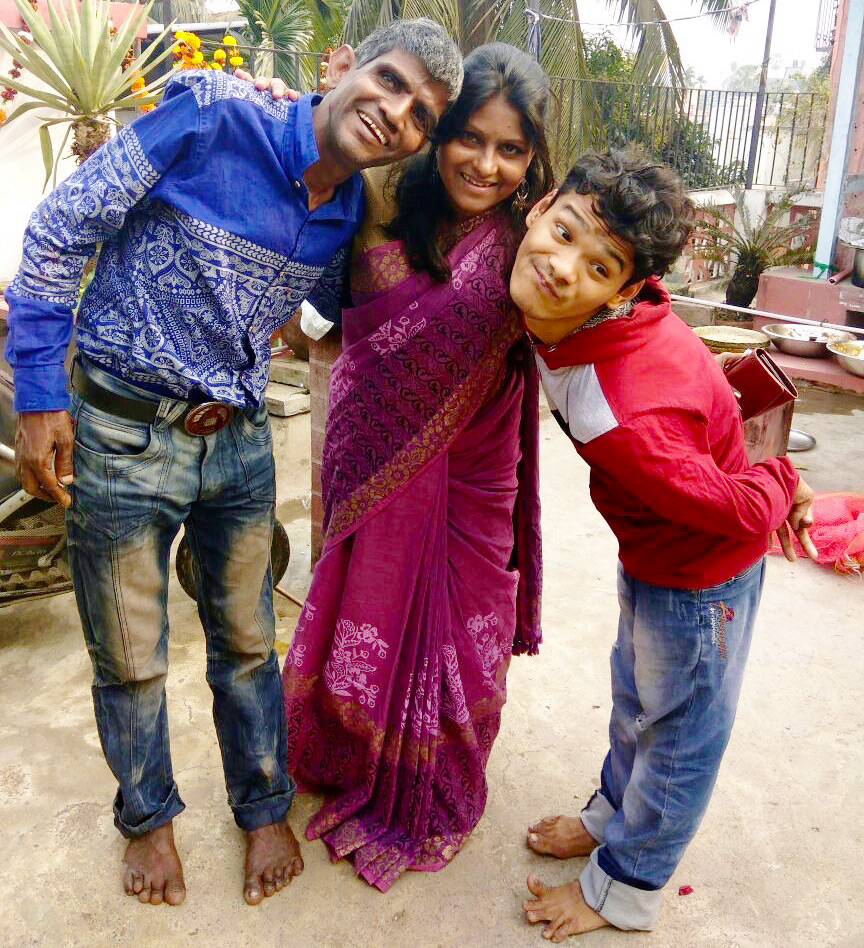 shuktara home for young people with disabilities - 2017 February - Sunil, Rabia and Ashok