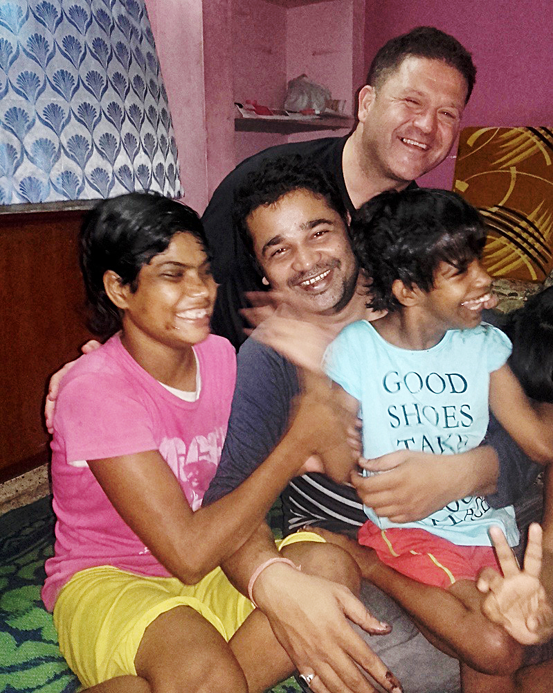 shuktara home for young adults with disability - 2017 February - Tamina, Pappu, Chris and Guria