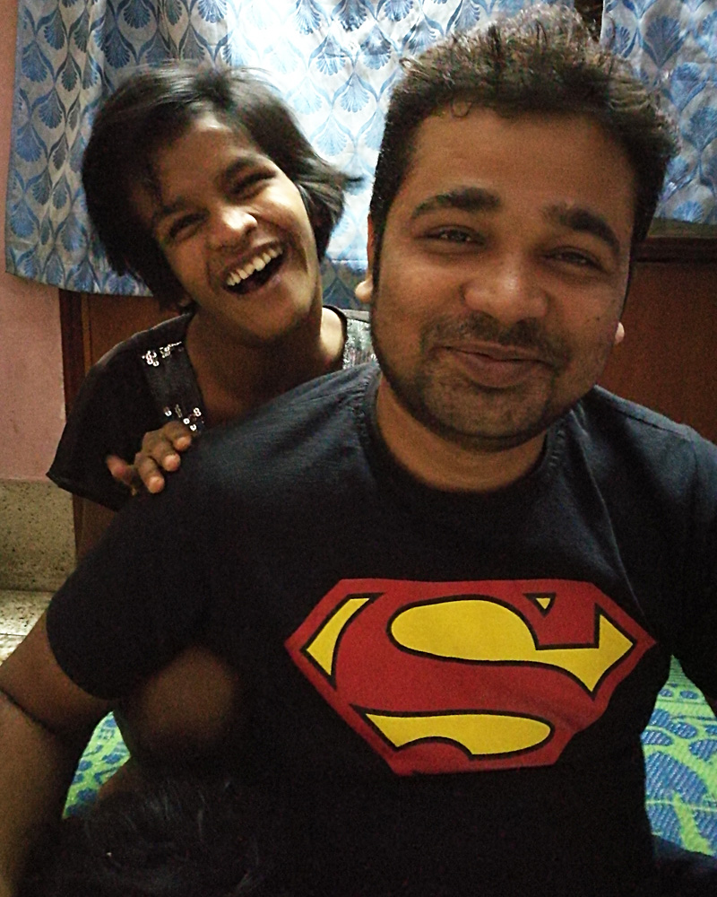 shuktara home for girls with disabilities - 2017 March - After Pappu finished cutting Lali's hair