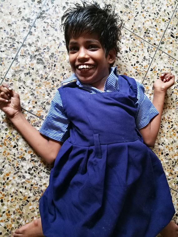 shuktara home for girls with disabilities - 2017 April - Guria in her uniform