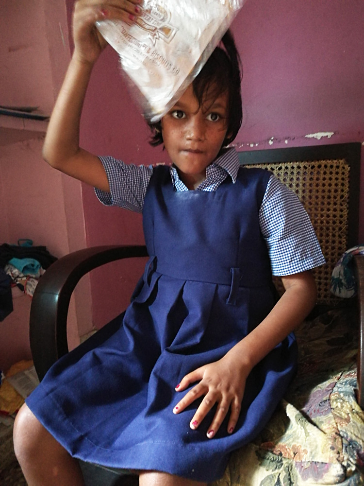 shuktara home for girls with disabilities - 2017 April - Puja in her uniform