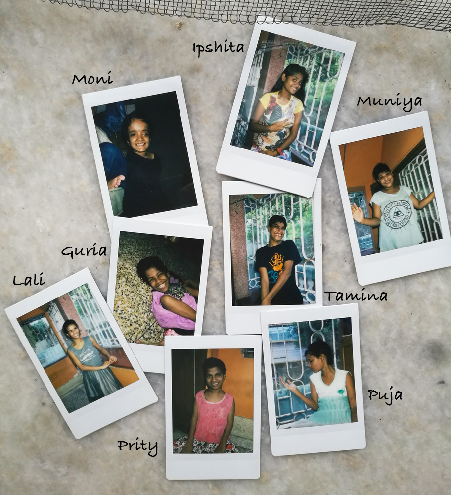 shuktara 2017 July - Polaroid photos of all the girls in Lula Bari and their names