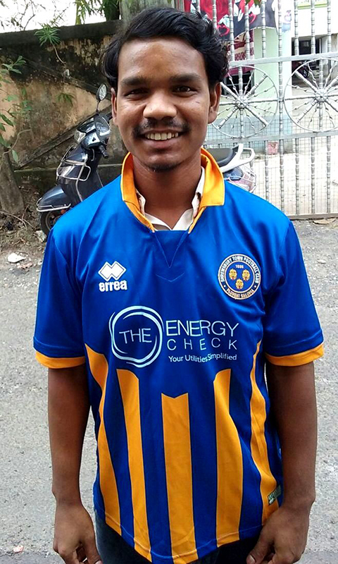 shuktara - 2017 October - Rajesh wearing his Shrewsbury t-shirt