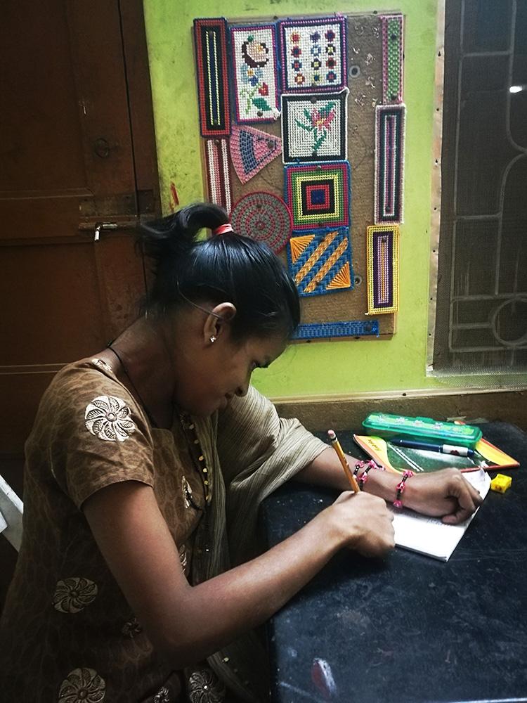 shuktara home for disabled girls - 2018 February - Lali studying