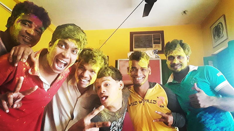 shuktara celebrates Holi, the festival of colours