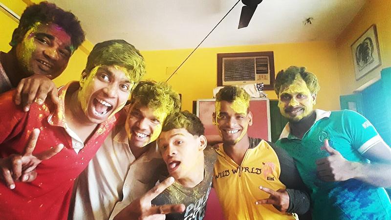 shuktara celebrates Holi, the festival of colours