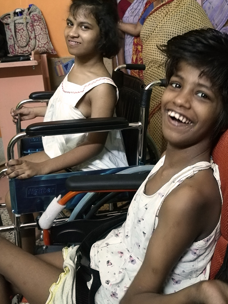 Lula Bari home for girls with disability - Prity and Guria
