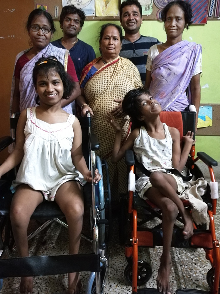 Lula Bari home for girls with disability - new wheelchairs