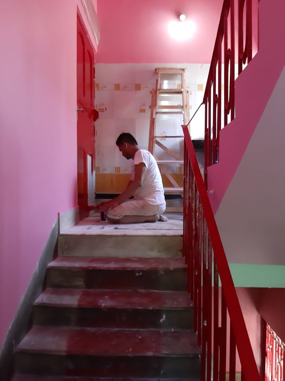 shuktara - painting the stairway