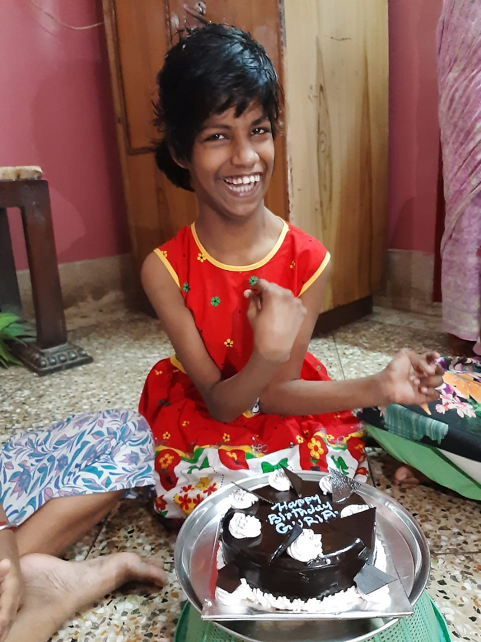 shuktara - Guria and her birthday cake