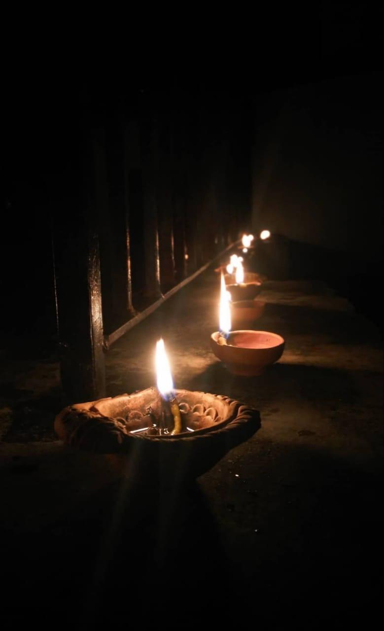 shuktara - lamps on Diwali