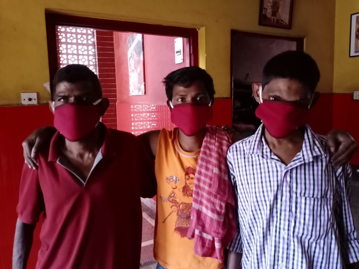 shuktara - boys in protective masks