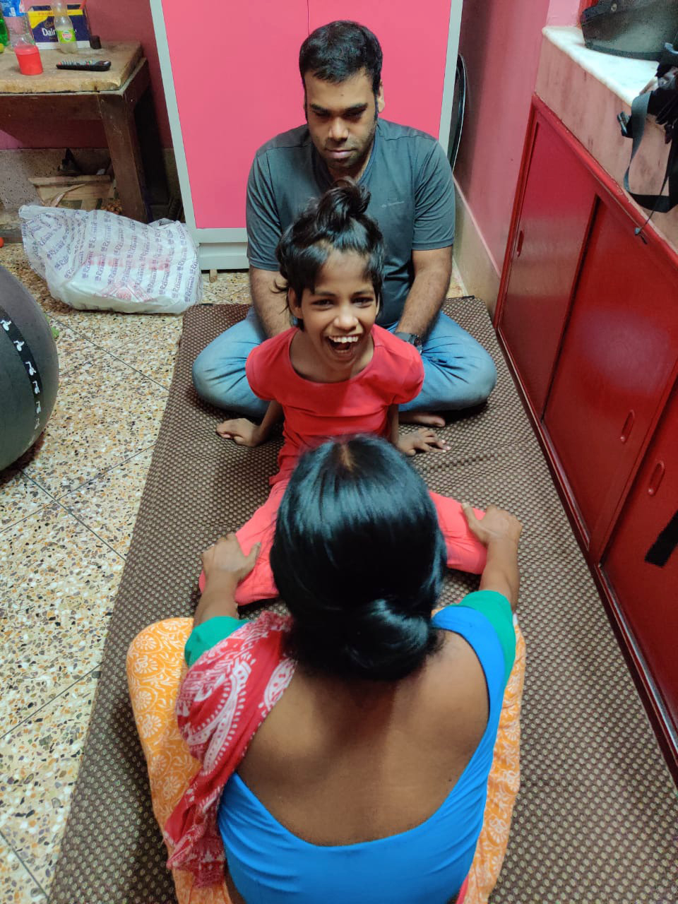 shuktara - Guria at Lula Bari doing physio