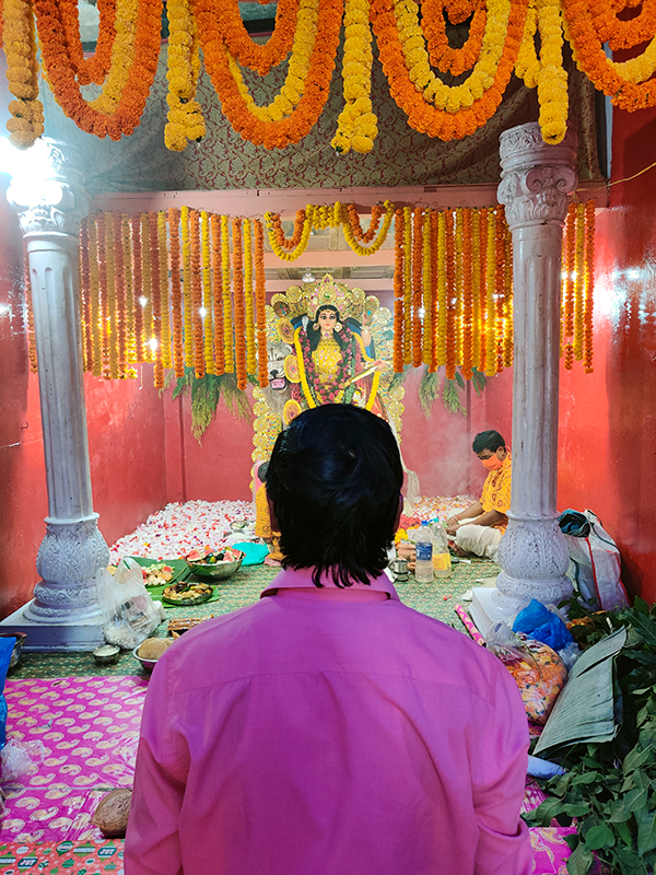 shuktara Jagadhatri Puja - Swapan and the goddess