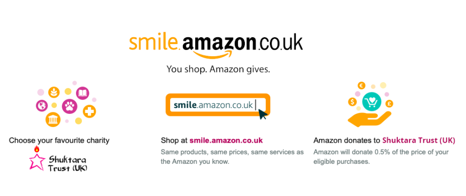 Donate to Shuktara Trust (UK) through Amazon Smile!