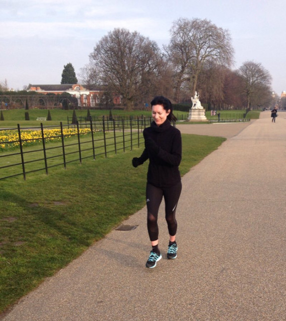 shuktara - Emma D'Arcey training for the London Marathon 2016