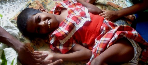 shuktara home for girls with disability - Guria in red dress