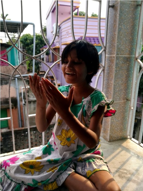shuktara home for girls with disabilities - 2017 March - Puja on the window ledge at Lula Bari