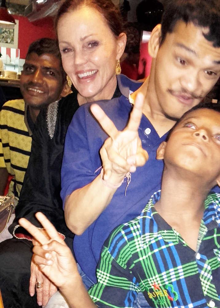 shuktara home for young adults with disability - 2016 October - Sunil, Belinda and Ashok at Fire & Ice