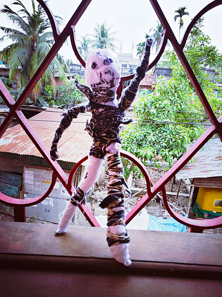 shuktara home for young people with disabilities - One of the dolls in situ