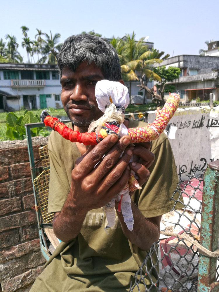 shuktara home for young people with disabilities - Sunil with one of his creations