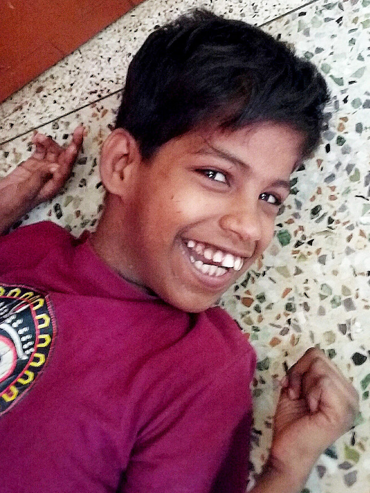 shuktara home for girls with disabilities - 2017 April - Guria after her haircut