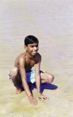 shuktara 2000 - Anna in Goa, enjoying the sea