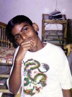 shuktara 2000 - Goa - Anna sitting in Shakti's apartment