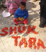 shuktara 2013 - Prity with flowers