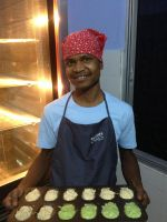 shuktara - 2013 - with a tray of madeleines, Shuktara Cakes
