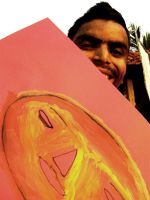shuktara 2014 - Anna with his drawing of aface