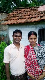 shuktara - June 2015 - Sanjay and Munni outside their home