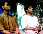 shuktara home for young adults with disability - 2015 January - Raju and Sumon on the set of Lion