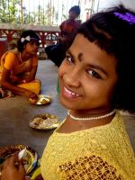 shuktara - 2015 Saraswati Puja Prity in yellow
